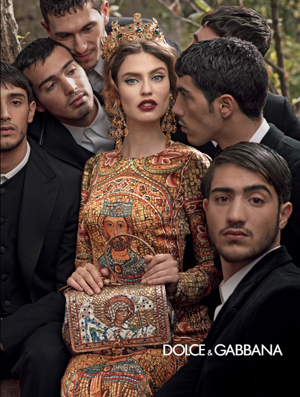 dolce-and-gabbana-fall-winter-2014-women-campaign-photos-bianca-balti-crown