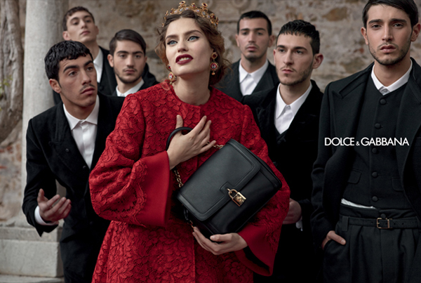 dolce-and-gabbana-fall-winter-2014-women-campaign-photos-bianca-balti-red-coat