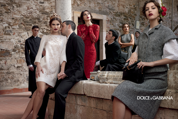 dolce-and-gabbana-fall-winter-2014-women-campaign-photos-bianca-balti-white-dress