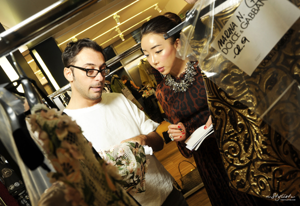 02-yuriAhn-theStylistme-backstage-Dolce-and-Gabbana-invitation-fashion-show-SS-2014-womenswear