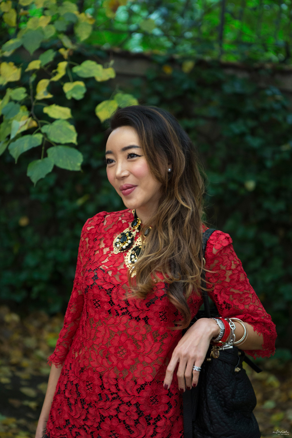 05-YuriAhn-theStylistme-shares-looks-for-holiday-parties-with-dolce-and-gabbana-fw-14-red-lace
